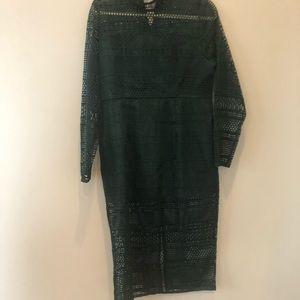 Anthropologie Lace Green Dress